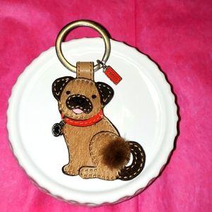 Authentic Coach Pug Keychain